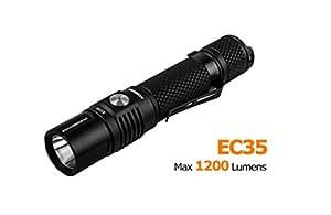 ACEBeam EC35 Professional Mini Potable High-intensity 1200LM CREE XPL LED Flashlight Emergency Adjustable Focus Zoom Handheld Flash light Torch Light Lamp (Black)