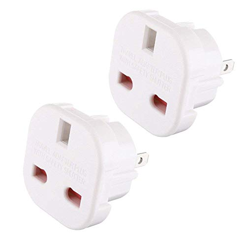 Gadgets Hut UK - 2 x UK to US Travel Adaptor suitable for USA, Canada, Australia, Mexico, Thailand - Refer to Product Description for Country list