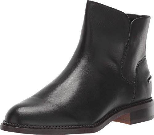 Franco Sarto Women's Happily Ankle Boot, Black Leather, 10 M US