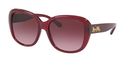 Coach Women's HC8207 Sunglasses Aubergine / Burgundy Gradient - Coach Sunglasses Purple