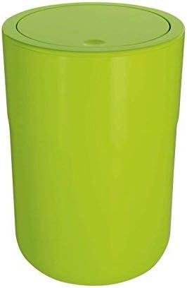 Spirella Design Kosmetikeimer Cocco mit Extra Ring f/ür M/üllbeutel Treteimer Schwingdeckeleimer Abfallbeh/älter mit Schwingdeckel 5 Liter /ØxH 19 x 26 cm Orange
