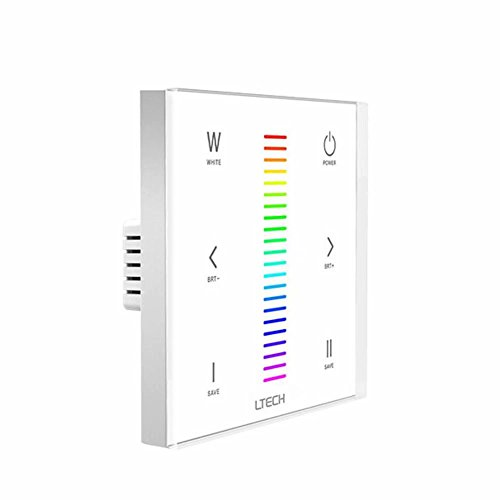 LEDENET E4 Wall-mounted Touch Panel RGBW Controller For 3528 5050 Multi-color LED Strip Lighting 12-24V 12A