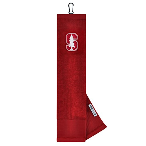 Stanford Cardinal Face/Club Embroidered Towel