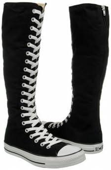 Amazon.com: Converse Black Knee High Boots Shoe Addict Size 6: Shoes