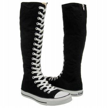 c6ef9a15f8ee Amazon.com  Converse Black Knee High Boots Shoe Addict Size 6  Shoes