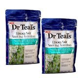 Dr. Teals Epsom Salt Soaking Solution Refresh & Renew with Rosemary and Mint (Two 3LB Bags) by Dr Teal's