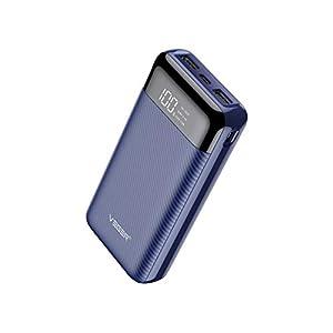 Veger W2019 LCD Display 20000 mAh Li Polymer Power Bank (Blue)