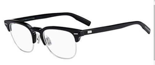 Authentic Christian Dior Homme Black Tie 222 0807 Black Eye Wear Eye Glasses
