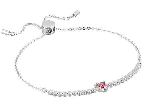 Swarovski Crystal Red Heart Bolo Bracelet