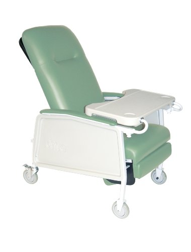 Drive Medical 3 Position Heavy Duty Bariatric Geri Chair Recliner, Blue Ridge