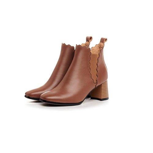 Stivaletto donna tacco a spillo in pelle scamosciata in vera pelle elastico alla caviglia , brown , 39 BROWN-39