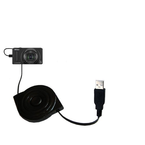 Compact and retractable USB Power Port Ready charge cable designed for the Nikon Coolpix S9200/S9300 and uses TipExchange