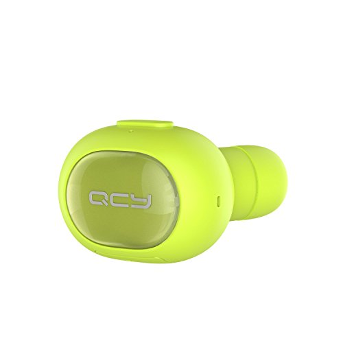 Wireless Earbud, QCY Q26 Bluetooth Invisible Earpiece With Mic, Hands-free Stereo noise canceling for Apple iPhone 7, 7 Plus, 6 Plus, 5S, 4S, and Android Phones - Green