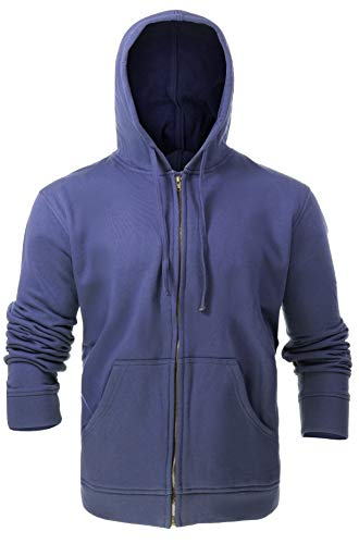 (Flame Resistant FR Fleece Hoodies - 100% C - Heavy Weight (X-Large, Navy Blue) )