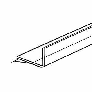 Adhesive-Backed Shelf Fence Clear 48'' (L) Pack of 10