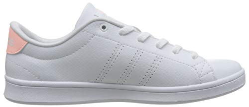 Advantage adidas Clear Footwear White Orange White 0 Damen Sneaker QT Footwear Weiß Clean vf5qwrf