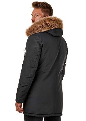 Burocs Kunst Jacke Herren Winter Imitat Schwarz Br1625 Parka Fell Kapuze Khaki BwBxIqrF
