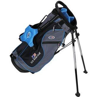 USキッズゴルフul48 6-club dv2スタンドバッグセット、右手、グレー/ティール B075ZYXS5T