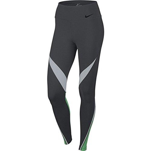 Nike Womens Dri-Fit Legendary Fabric Twist Veneer Training Tights 724963-451 (X-Large, Anthracite/White/Spring Leaf/Black)