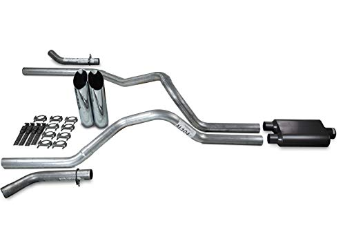 Truck Exhaust Kits - Shop Line dual exhaust system 2.5 AL pipe 2 chamber Muffler 2.5