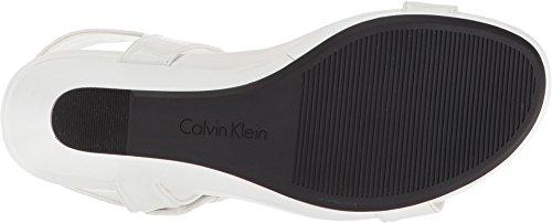 Calvin Klein Womens Jacie Sandal Platinum White BWbMFI55