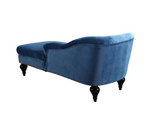 Modern and elegant kid 39 s velvet chaise lounge for living for Blue velvet chaise lounge