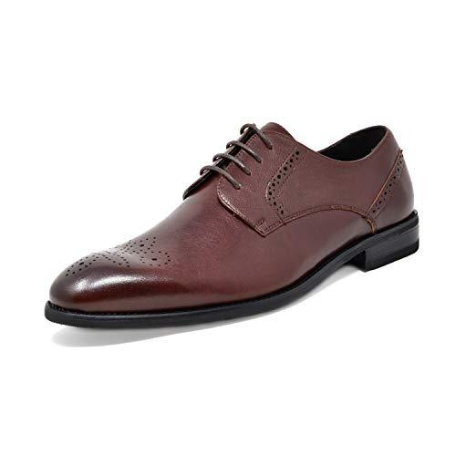 (Bruno Marc Men's Dark Brown Dress Shoes Wingtip Oxfords Washington-5 Size 14 M US)