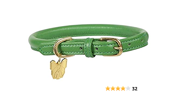 size XS Rolled Leather Dog Collar