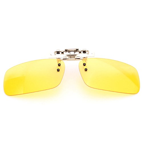 Polarized Clip On Lens for glasses Sunglasses Driving Cycling Night Vision Anti UVA Anti UVB Unisex