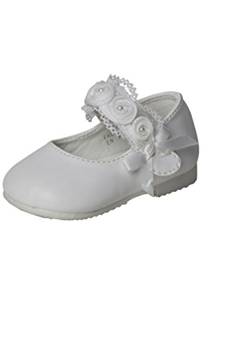 Zapatos de bebé comunión blanco blanco