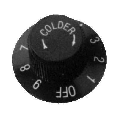 Franklin Machine 130-1085 Cold Temperature Control Knob for Refrigerators & Freezers - Plastic, Black