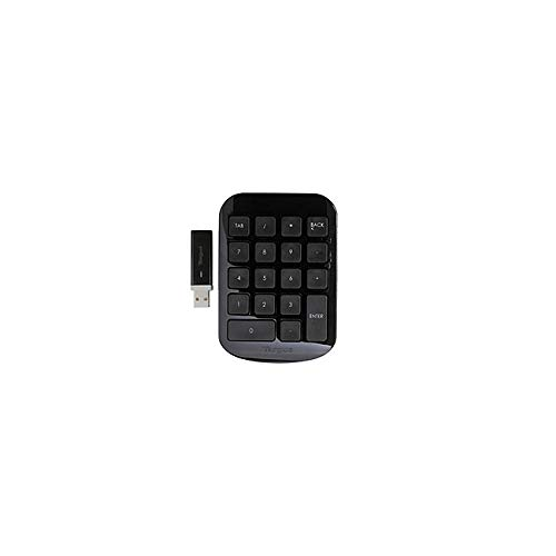 - Targus Wireless Numeric Keypad, Black/Gray