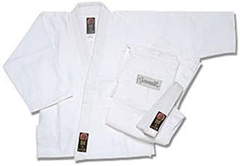 Pro Force Bleached White Size 1 Single Weave Cotton Gladiator Judo Gi//Uniform