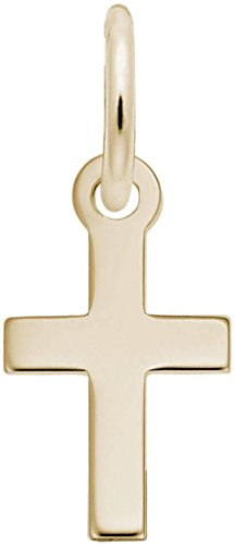 Rembrandt Classic Cross Charm - Metal - Gold-Plated Sterling Silver