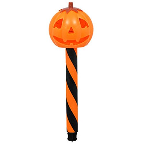 Taras Treasures and Gifts Jack-O-Lantern Pumpkin Halloween Plastic Solar-Powered Stake Lights ()