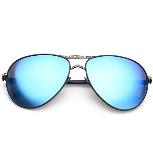 Taille Unique Lunettes Prämie Sabarry Pilote Bleu de Homme Soleil UV400 de pour 6 fP6x6w