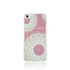 LCJ Big Flower Leather Vein Pattern PC Hard Case for iPhone 5/5S