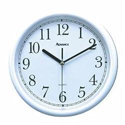 Geneva/Advance Clock Co 8101 Tradition 10 White Plastic Wall Clock, Round