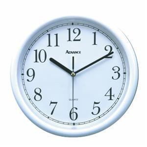 Geneva/Advance Clock Co 8101 Tradition 10 White Plastic Wall Clock, Round