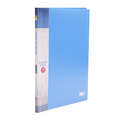 TRUETREND 10 - Pocket Presentation Display Book A4 Size | Multi-Purpose Document Protection – Sheet Music, Reports, Artwork, School Projects and More + [Vibrant colors]