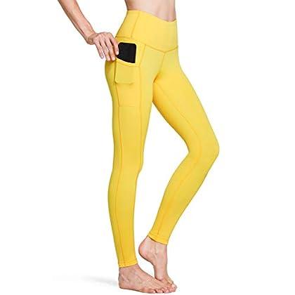 TSLA High Waist Yoga Pants with Pockets, Tummy Control Yoga Leggings, Non See-Through 4 Way Stretch Workout Running… 31CgWtj5X4L