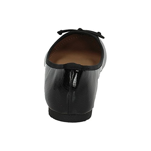 Negro 66 Mujer Lazo con MB188 Bailarinas ZAPATOP Manoletinas wqUxSZT0n