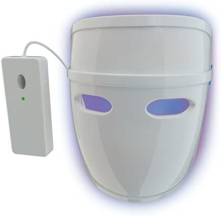 Pulsaderm – Acne Clearing Mask – Treats Acne Breakouts – Safe for Daily Use – FDA-Cleared LED Light Therapy Mask – Prevents Future Breakouts – Lightweight Mask – 3 AA Batteries Included