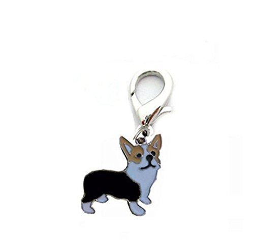 Anboo Pet Dogs Collar Charms Necklace Pendant ID Tag Disc Disk Pet Identification Tags (Corgi)