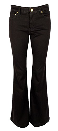 Michael Michael Kors Woman Classic Pant - Michael Kors Women's Selma Higher-Rise Flare Stretch Jeans Pants-B-2