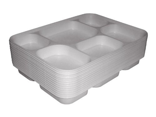 Thali Outlet - 50 x Small Mini Punjabi 6 Section White Disposable Thali Food Starter Trays Plates For Indian Events Birthdays Weddings Parties All Occasions by Thali Outlet - Leeds Outlet Shopping