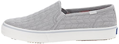 Keds Women's Double Decker Quilted Jersey Fashion Sneaker,Gray,10 M US (Quilted Jersey)