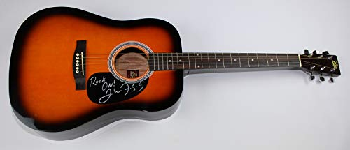 Creedence Clearwater Revival CCR Born on the Bayou John Fogerty Signed Autographed Sun burst Full Size Acoustic Guitar Loa ()