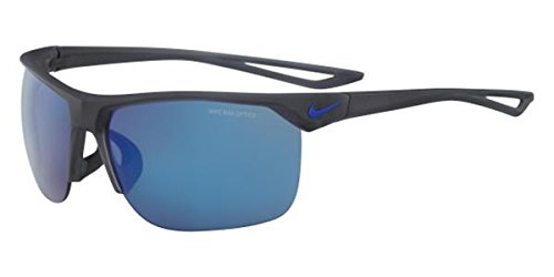 Nike EV1013-062 Trainer R Sunglasses (Frame Grey with Blue Pacific Flash Lens), Matte Anthracite/Racer - Nike Sunglasses Racer