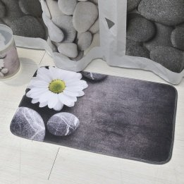 Zen Garden Rug (Evideco Printed Microfiber Mat Bathroom Rug Zen Garden 29.5L x 17W Bath 29.5